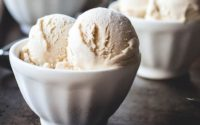 Glace à la vanille allegée maison